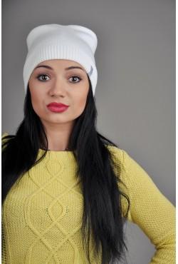 Женская трикотажная шапка OzziWhite1