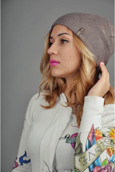 Женская трикотажная шапка 36