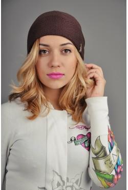Женская трикотажная шапка 009-1