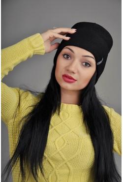 Женская трикотажная шапка 10-002