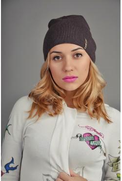 Женская трикотажная шапка 154