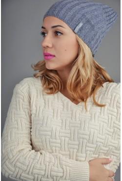 Женская трикотажная шапка FL708
