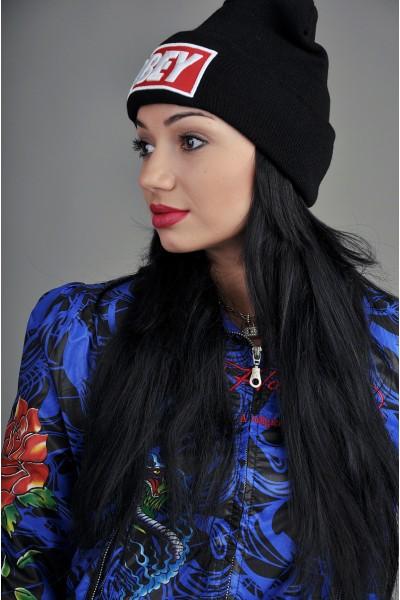 Женская шапка Obey черная