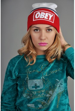 Женская шапка Obey WBR