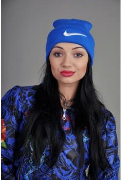 Женская спортивная шапка Nike синяя
