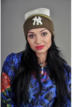 Женская шапка New York WGKhaky
