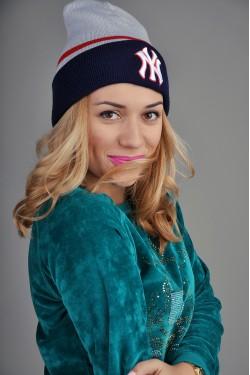 Женская шапка New York GRB