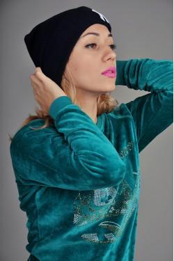 Женская шапка New York синяя
