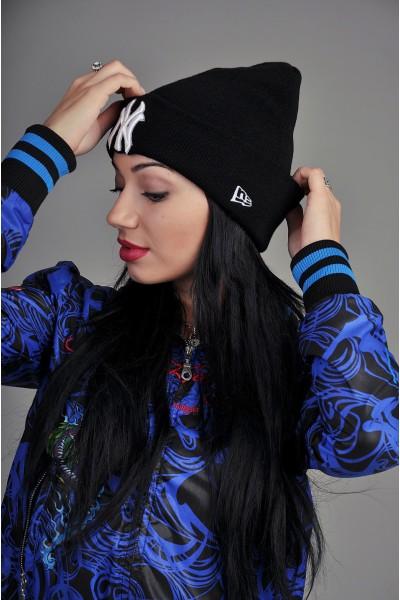 Женская шапка New York черная