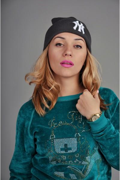 Женская шапка New York серая