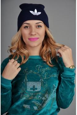 Женская спортивная шапка Adidas синяя