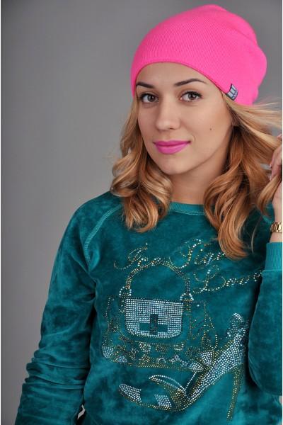 Женская трикотажная шапка Ozzi розовая