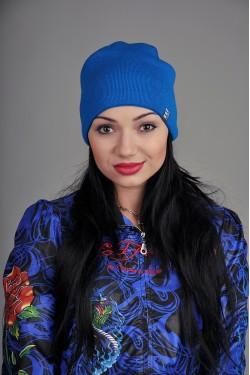 Женская трикотажная шапка Ozzi синяя