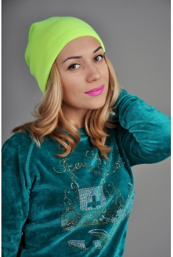 Женская трикотажная шапка Ozzi лайм