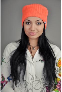 Женская трикотажная шапка Ozzi Warm оранжевая