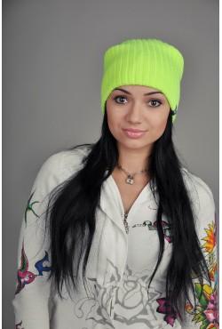 Женская трикотажная шапка Ozzi Warm лайм