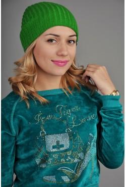 Женская трикотажная шапка Ozzi Warm зеленая