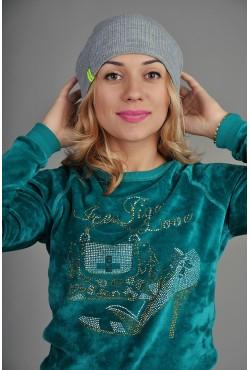 Женская трикотажная шапка 72-Lime