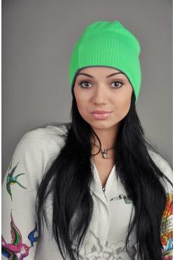 Женская трикотажная шапка 72-Green