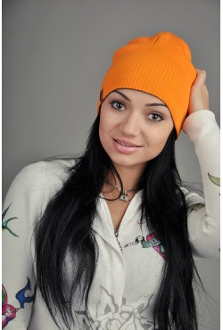 Женская трикотажная шапка 72-Grey