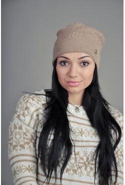 Женская вязаная шапка WH384Brown