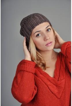 Женская вязаная шапка 9155Sc15