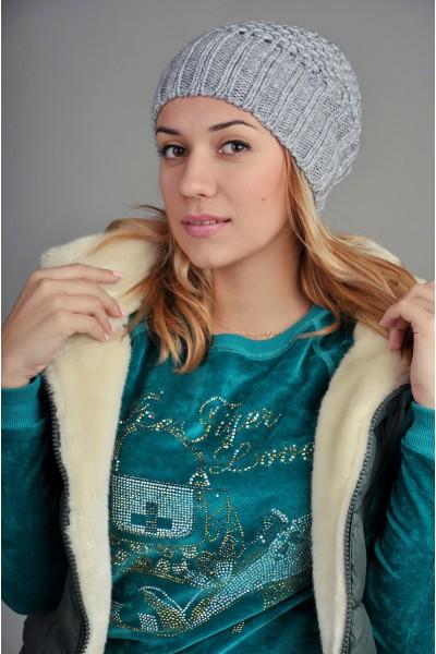 Женская вязаная шапка 9155Sc3