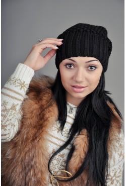 Женская вязаная шапка 9155Sc5
