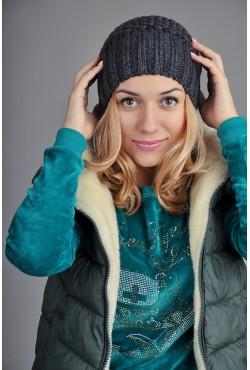 Женская вязаная шапка 9155Sc12