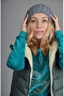 Женская вязаная шапка 9155Sc2