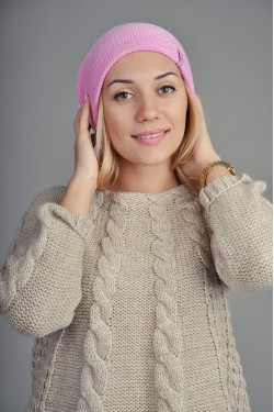 Женская вязаная шапка 018-1
