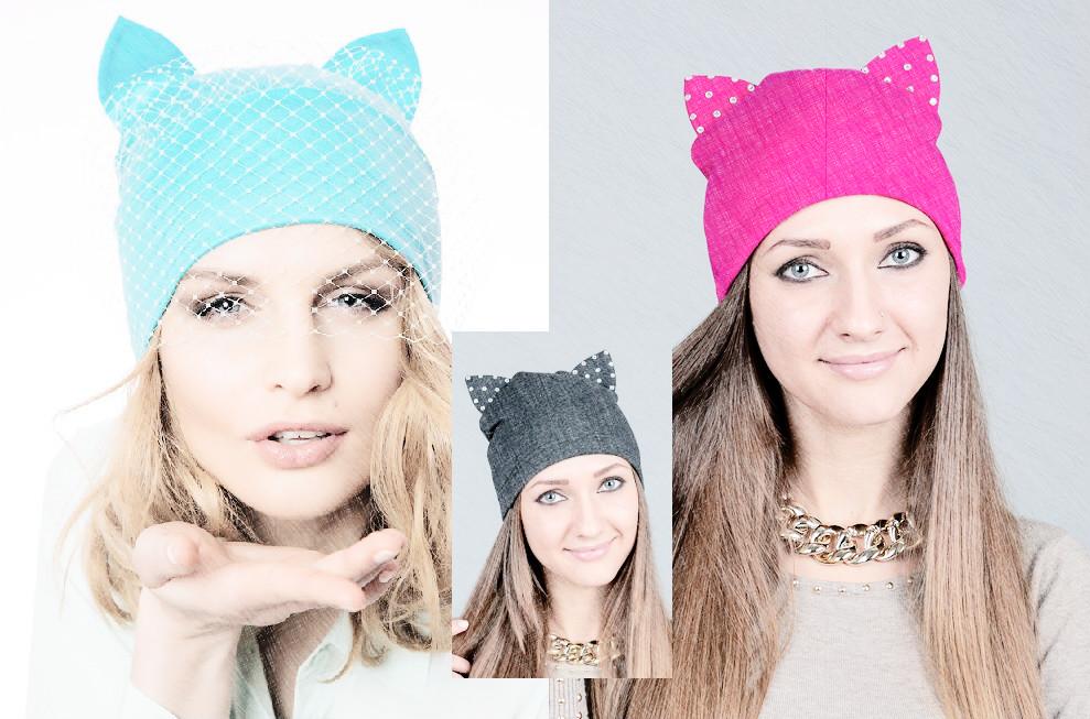 Вязание шапок с ушками женские 8
